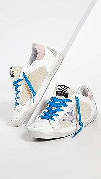 골든구스 Golden Goose Superstar Sneakers,Beige/White/Silver/Pink/Ice