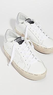 골든구스 Golden Goose Hi Star Sneakers,White/Silver