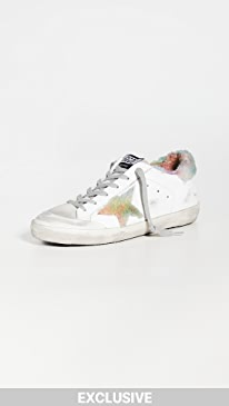 골든구스 Golden Goose Superstar Sneakers,White/Ice/Multi