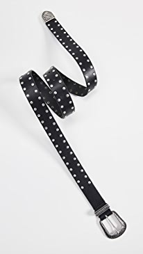 이로 벨트 IRO Tovy Studded Belt,Black
