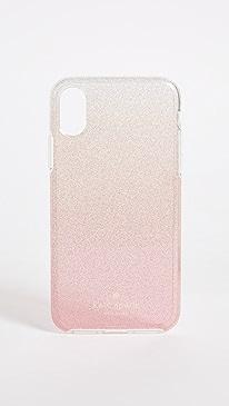 케이트 스페이드 Kate Spade Pink Glitter Ombre iPhone X Case