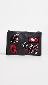 알렉산더 맥퀸 태블릿 파우치 - 블랙 (아이패드 전용 파우치) McQ - Alexander McQueen Tablet Pouch,Darkest Black
