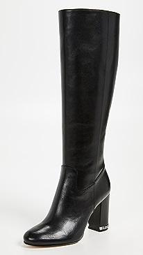 마이클 마이클 코어스 워커 롱 부츠 - Black,Acorn 2 컬러 Michael Michael Kors Walker Tall Boots