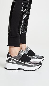 마이클 마이클 코어스 Michael Michael Kors Cosmo Sneakers,Silver