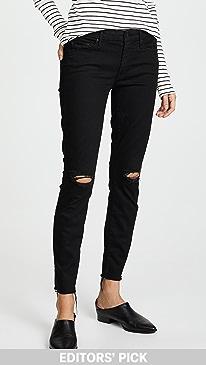 마더 진 청바지 MOTHER The Looker Frayed Ankle Jeans