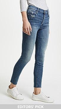 마더 진 청바지 MOTHER Stunner Ankle Fray Jeans