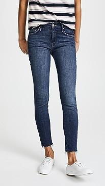 마더 진 청바지 MOTHER The Looker Ankle Fray Jeans