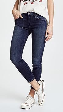 마더 진 스키니진 MOTHER Looker Crop Skinny Jeans