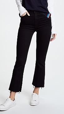 마더 진 청바지 MOTHER The Hustler Ankle Fray Jeans