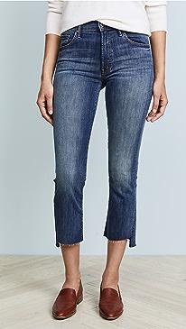 마더 인사이더 크롭 청바지 MOTHER The Insider Crop Step Fray Jeans