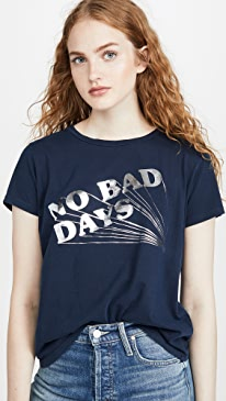 마더 진 MOTHER The Boxie Goodie Goodie Tee,No Bad Days
