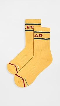 마더 진 베이비 스텝 양말 MOTHER Baby Step Socks,Yellow/Navy/Red