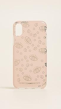 레베카 밍코프 Rebecca Minkoff Metallic Galaxy Icons iPhone X Case