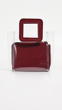 스타우드 미니 셜리 토트백 가넷 클리어 스타우드 STAUD Mini Shirley Bag,Garnet/Clear