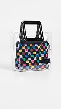 스타우드 미니 셜리백 PVC 토트백 멀티 스타우드 STAUD Mini Shirley Bag,Black/Clear/Multi