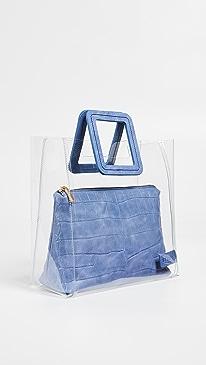 스타우드 셜리백 PVC 토트백 클리어 블루 스타우드 STAUD Shirley Bag,Clear/Coastal Blue
