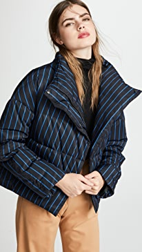 띠어리 Theory Offset Puffer Coat,Black Multi