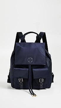 토리버치 틸다 나일론 백팩 - 블랙, 네이비 2컬러 Tory Burch Tilda Nylon Flap Backpack