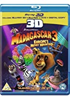 Madagascar 3 - Europe&#39;s Most Wanted- 3D Blu-ray