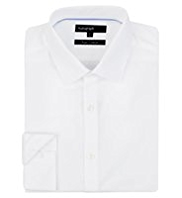 2in Longer Autograph Pure Cotton Plain Poplin Shirt