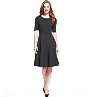 M&S Collection Panelled Seam Skater Dress