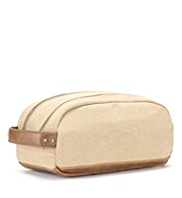 Pure Cotton Canvas Washbag
