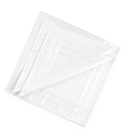 7 Pack Supima® Pure Cotton Anti-Bacterial Handkerchiefs