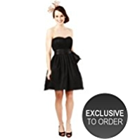 M&S Collection Sleeveless Mesh Spotted Prom Dress
