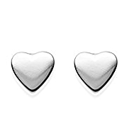 M&S Collection Finest Sterling Silver Heart Stud Earrings