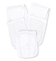 5 Pack Cotton Rich Plain Burp Cloths