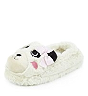 Faux Fur Panda Slippers