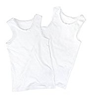 2 Pack Ribbed Thermal Vests
