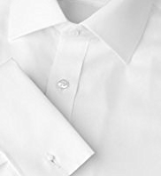 2in Longer Pure Cotton Slim Fit Twill Shirt with Stainaway™