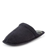 Freshfeet™ Bump Toe Corduroy Mule Slippers with Silver Technology