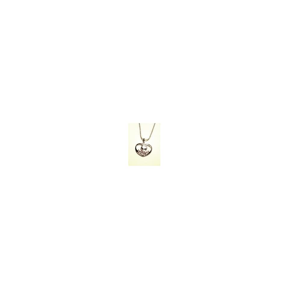 HELLO KITTY HEART CHARM NECKLACE WITH FREE KEY CHAIN CHARM