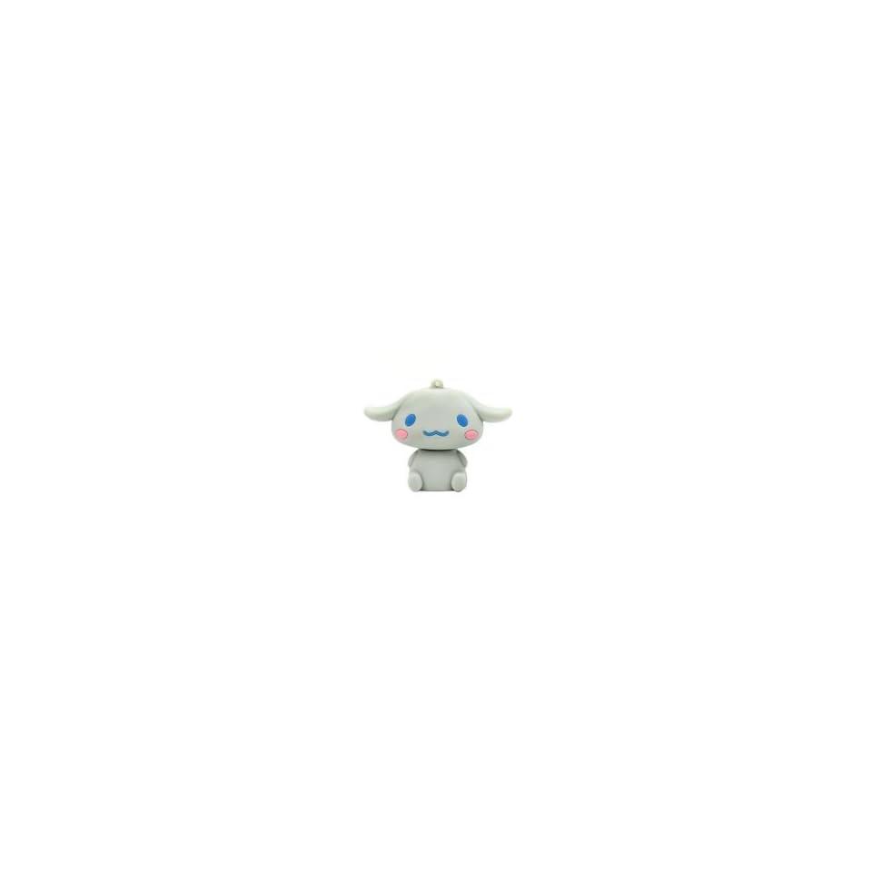 4GB Happy Rabbit Shaped Cartoon USB Flash Drive Grey