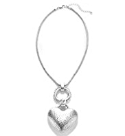 Per Una Silver Plated Heart & Ring Pendant Necklace