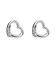 M&S Collection Silver Plated Single Heart Drop Earrings