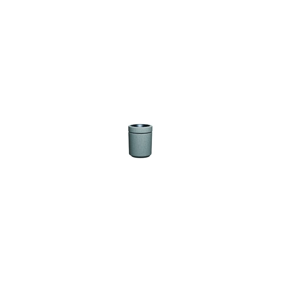 Witt Industries RLC 2034T GR 27 Gallon Outdoor Top Load Trash Can w/ ABS Liner, Graystone, Each