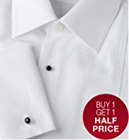 2in Shorter Sartorial Pure Cotton Marcella Stud Dinner Shirt