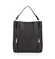 Autograph Leather Zip Hobo Bag