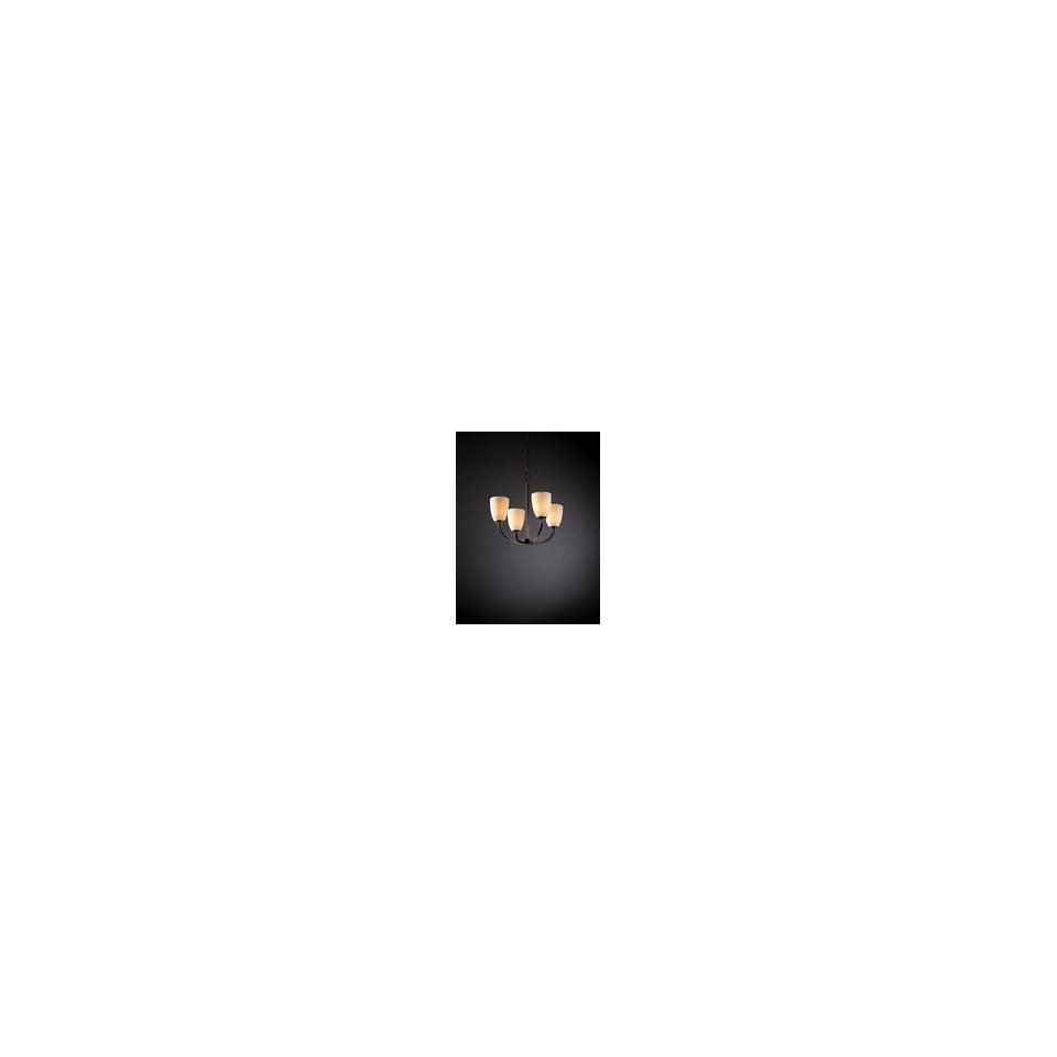 Justice Design Group Arch 4 Light Chandelier model number POR 8850 18 WFAL DBRZ Chandelier