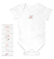 7 Pack Pure Cotton Bunny Design Bodysuits