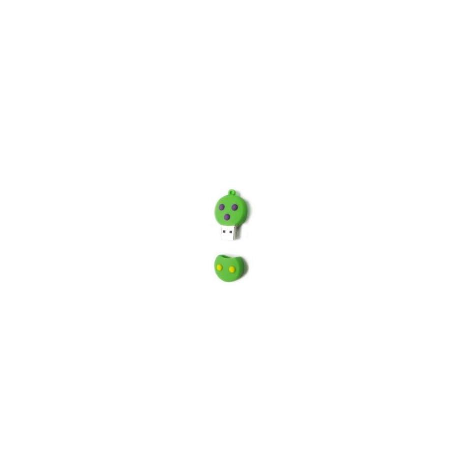 8GB Topaz Snowman Cartoon USB Flash Drive Grass Green