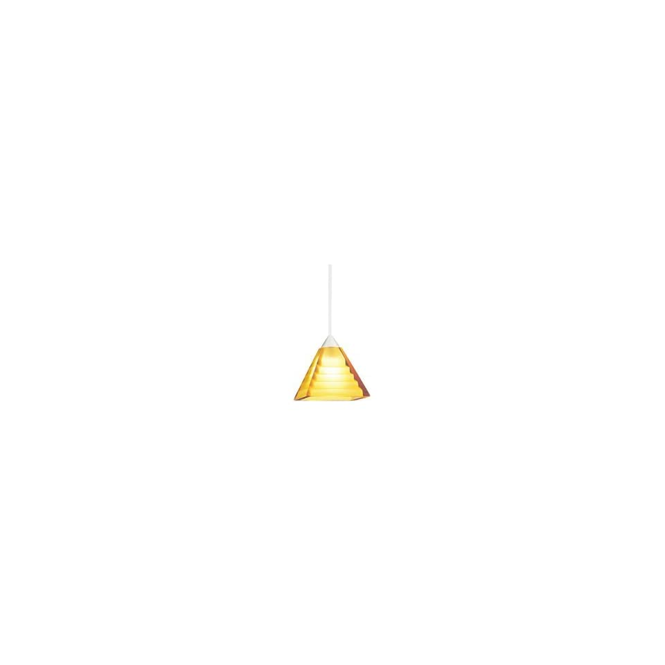 Lighting   Pyramid Art Glass Pendant on Quick Jack Adaptor   Pyramid