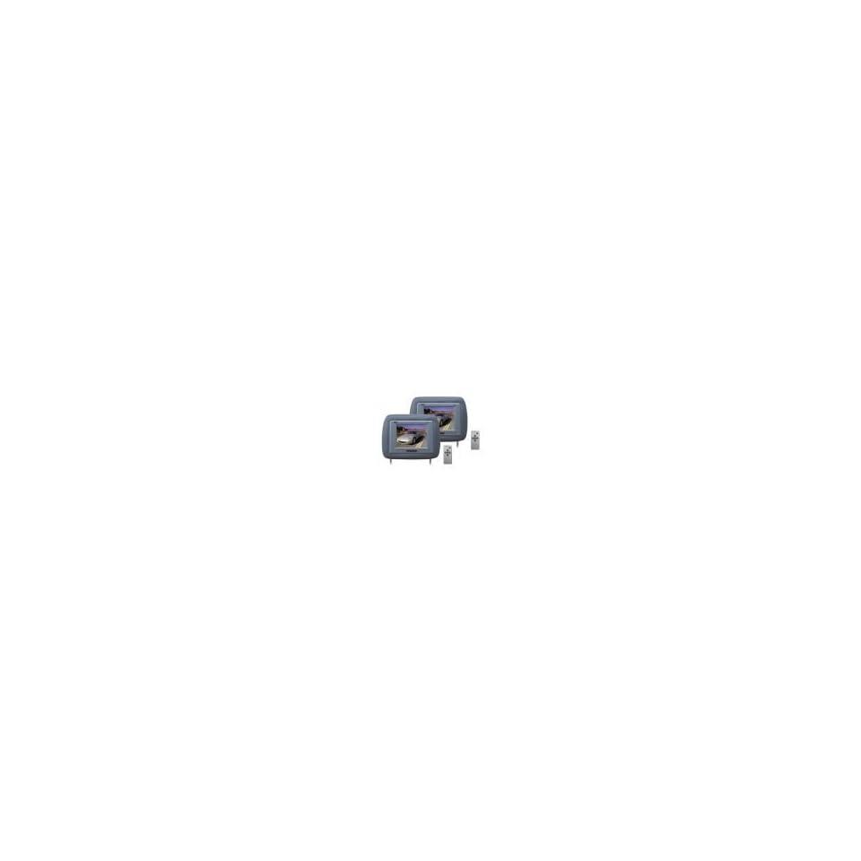 of Grey Headrest w/ Built In 6.2 TFT LCD Monitors