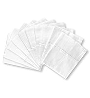 10 Pack Pure Cotton Plain Muslin Cloths