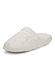 Per Una Recycled Pearl Effect Mule Slippers