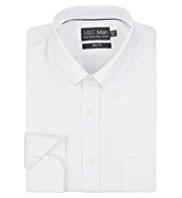 2in Longer Pure Cotton Slim Fit Oxford Shirt with Stainaway™