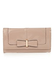 M&S Collection Metal Bow Foldover Flap Purse